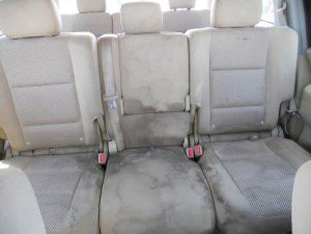 Залитые авто сиденья